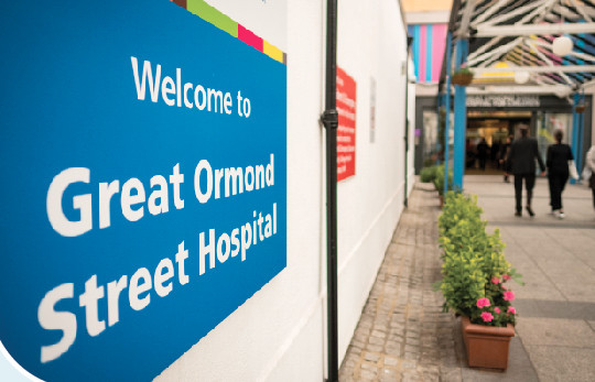 We support Great Ormond Street Hospital