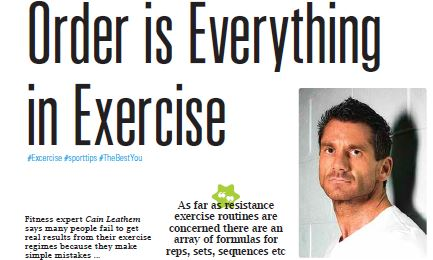 Cain Leathem Order Is Everything In Exercise