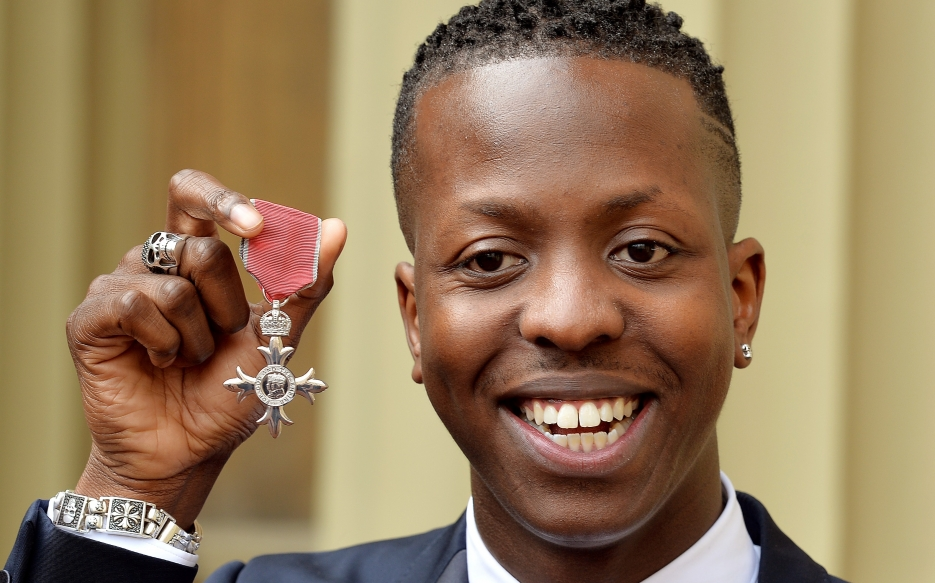 Jamal Edwards holds his Member of the British Empire (MBE), after it was awarded to him by the Prince of Wales at an Investiture Ceremony, at Buckingham Palace in central London.