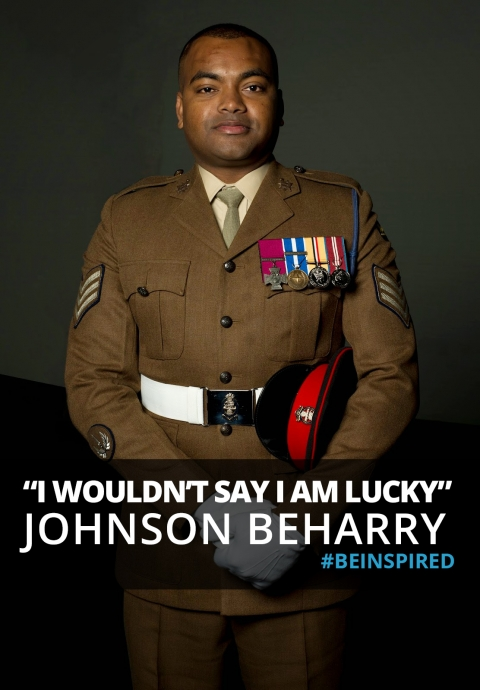 I wouldn't say I am lucky… Interview with Johnson Beharry, VC