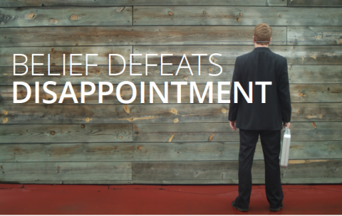 Belief defeats disappointment – Jim Aitkins