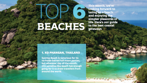 Top 6… beaches