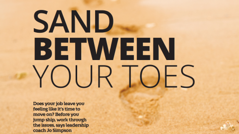 Sand between your toes- Jo Simpson