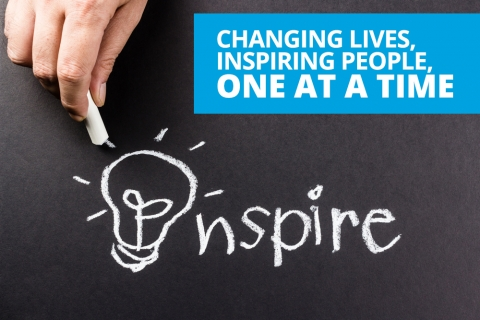 Changing lives, inspiring people, one at a time by Bernardo Moya