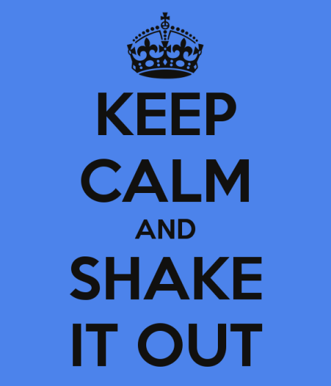 Keep calm and shake it out by Richard Tyler