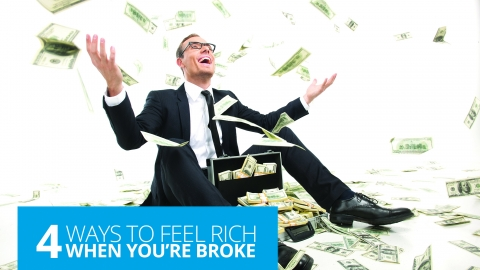 4 Ways To Feel Rich When You're Broke by Kate Northrup