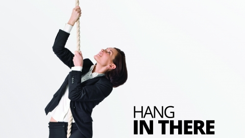 Hang in there by Gerry Robert