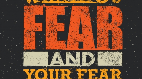The only thing we have to fear us fear itself by Pete Martin