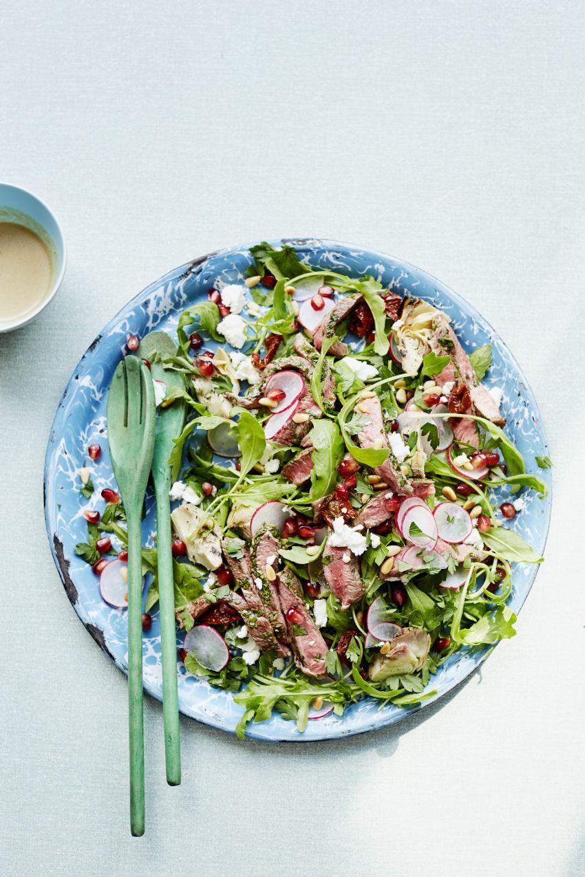 Iron Rich Steak Salad - The Happy Kitchen