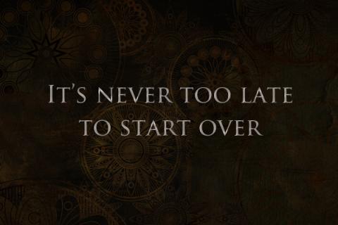 It's never to late by Bernardo Moya