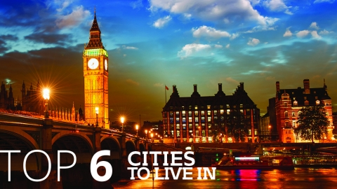 Top 6 cities to live in