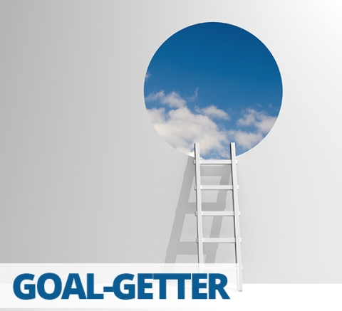 Goal-getter by Rachel Bridge
