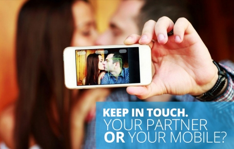 Keep  in touch. Your partner or your mobile?