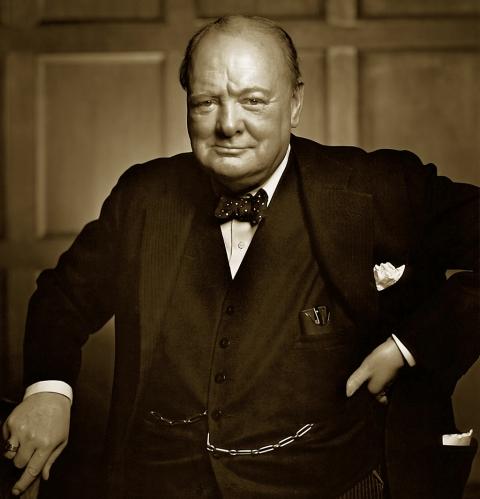Winston Churchill: no impediment to liberty