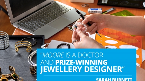 """Sarah Burnett-Moore is a doctor and prize-winning jewellery designer'"