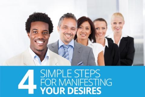 Four simple steps for manifesting your desires by Natalie Ekberg