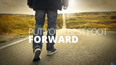 Put your best foot forward by David Sturt