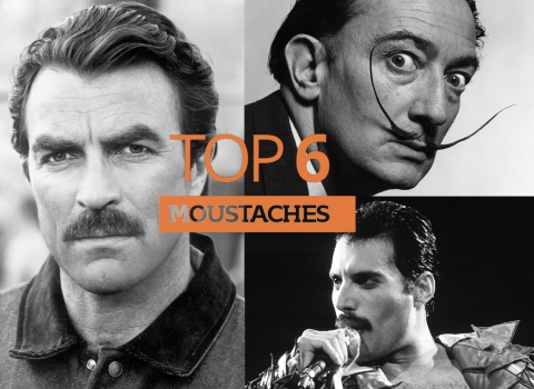 Top 6 moustaches by The Best You
